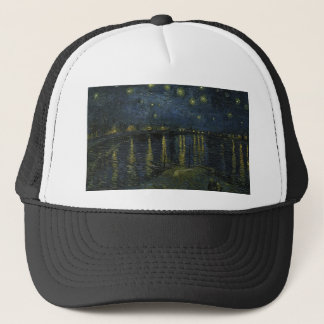 Vincent Van Gogh Starry Night Over the Rhone Art Trucker Hat