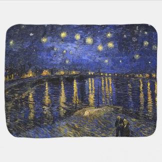 Vincent Van Gogh Starry Night Over The Rhone Baby Blanket
