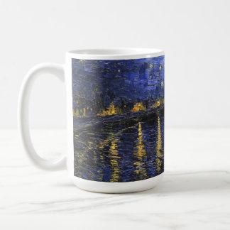 Vincent Van Gogh Starry Night Over The Rhone Basic White Mug