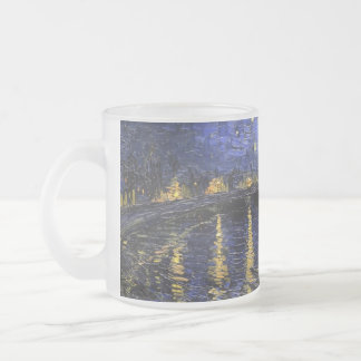 Vincent Van Gogh Starry Night Over The Rhone Frosted Glass Mug