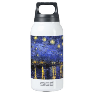 Vincent Van Gogh Starry Night Over The Rhone Insulated Water Bottle