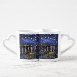Vincent Van Gogh Starry Night Over The Rhone Lovers Mug Sets