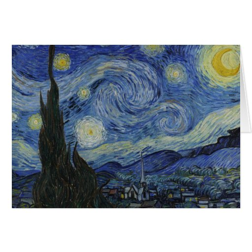 Vincent Van Gogh Starry Night Over The Rhone Paint Cards