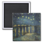 Vincent van Gogh | Starry Night Over the Rhone Square Magnet