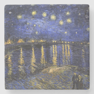 Vincent Van Gogh Starry Night Over The Rhone Stone Coaster