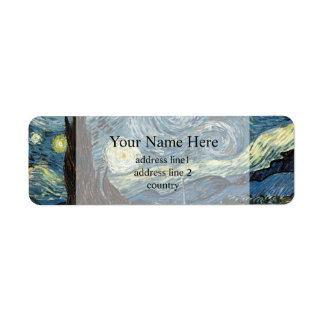Vincent van Gogh,Starry Night Return Address Label