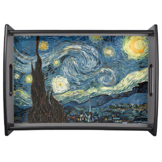 Vincent van Gogh Starry Night Serving Tray