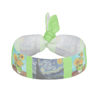 Vincent Van Gogh -Starry Night Sunflowers Hair Tie