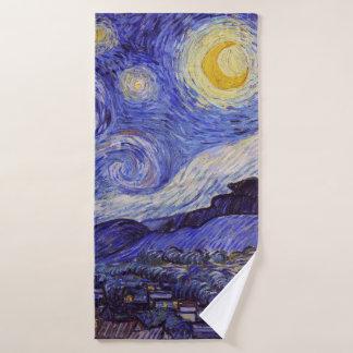 Vincent Van Gogh Starry Night Vintage Fine Art Bath Towel