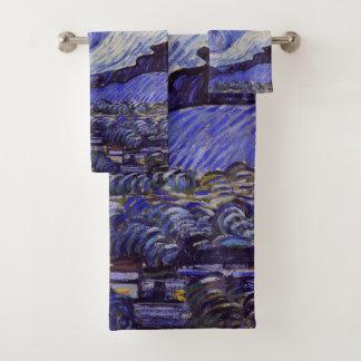 Vincent Van Gogh Starry Night Vintage Fine Art Bath Towel Set
