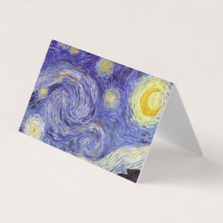 Vincent Van Gogh Starry Night Vintage Fine Art Business Card