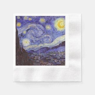 Vincent Van Gogh Starry Night Vintage Fine Art Disposable Napkins