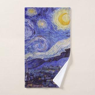 Vincent Van Gogh Starry Night Vintage Fine Art Hand Towel