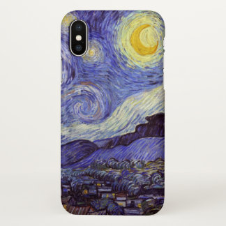 Vincent Van Gogh Starry Night Vintage Fine Art iPhone X Case
