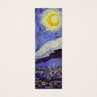 Vincent Van Gogh Starry Night Vintage Fine Art Mini Business Card