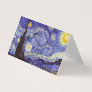 Vincent Van Gogh Starry Night Vintage Fine Art Place Card