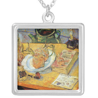 Vincent Van Gogh - Still Life Drawing Board Silver Plated Necklace