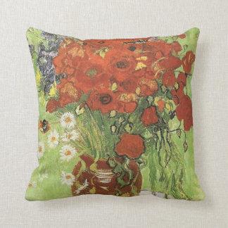 Vincent van Gogh, Still life - Red poppies... Throw Pillow