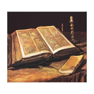 Vincent Van Gogh - Still Life With Bible Canvas Print