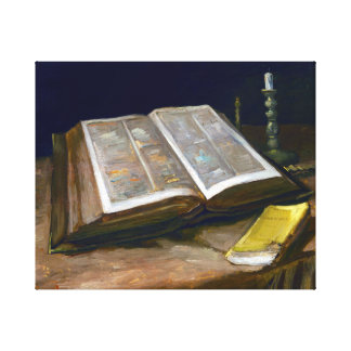 Vincent van Gogh Still Life with Bible Canvas Print