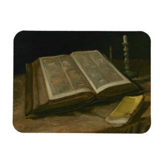 Vincent van Gogh - Still life with Bible Rectangular Photo Magnet