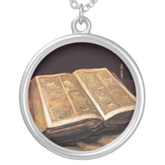 Vincent Van Gogh - Still Life With Bible Silver Plated Necklace