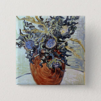 Vincent van Gogh   Still Life with Thistles, 1890 2 Inch Square Button