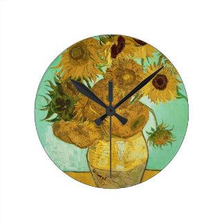 Vincent van Gogh | Sunflowers, 1888 Round Clock