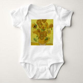 Vincent Van Gogh Sunflowers - Classic Art Floral Baby Bodysuit