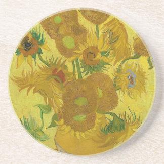 Vincent Van Gogh Sunflowers - Classic Art Floral Beverage Coaster