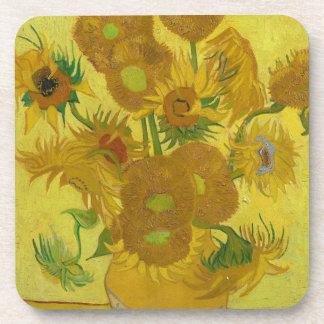 Vincent Van Gogh Sunflowers - Classic Art Floral Beverage Coasters