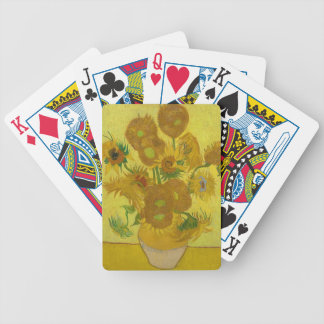 Vincent Van Gogh Sunflowers - Classic Art Floral Bicycle Playing Cards