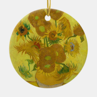 Vincent Van Gogh Sunflowers - Classic Art Floral Ceramic Ornament