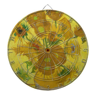 Vincent Van Gogh Sunflowers - Classic Art Floral Dartboard