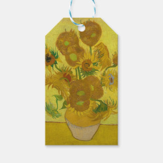 Vincent Van Gogh Sunflowers - Classic Art Floral Gift Tags