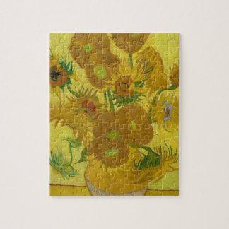 Vincent Van Gogh Sunflowers - Classic Art Floral Jigsaw Puzzle