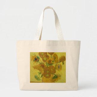 Vincent Van Gogh Sunflowers - Classic Art Floral Large Tote Bag