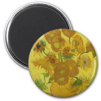 Vincent Van Gogh Sunflowers - Classic Art Floral Magnet
