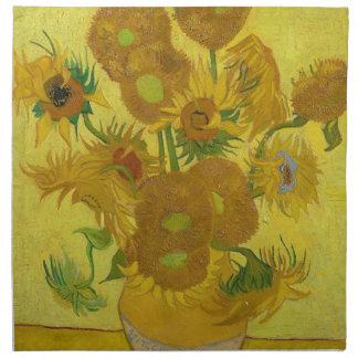 Vincent Van Gogh Sunflowers - Classic Art Floral Napkin