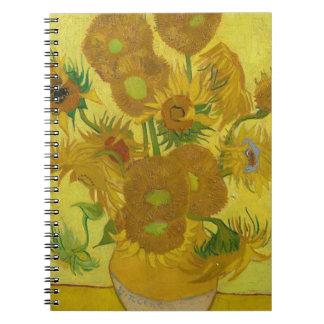 Vincent Van Gogh Sunflowers - Classic Art Floral Notebook