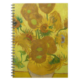 Vincent Van Gogh Sunflowers - Classic Art Floral Notebooks