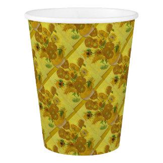 Vincent Van Gogh Sunflowers - Classic Art Floral Paper Cup