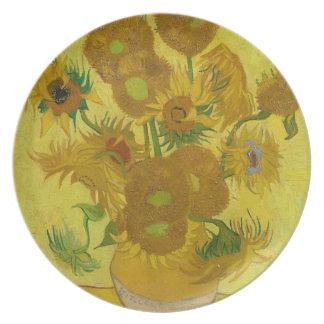 Vincent Van Gogh Sunflowers - Classic Art Floral Plate