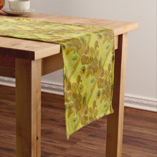 Vincent Van Gogh Sunflowers - Classic Art Floral Short Table Runner
