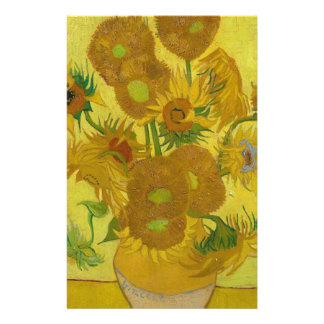 Vincent Van Gogh Sunflowers - Classic Art Floral Stationery