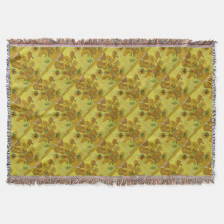 Vincent Van Gogh Sunflowers - Classic Art Floral Throw