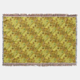 Vincent Van Gogh Sunflowers - Classic Art Floral Throw Blanket