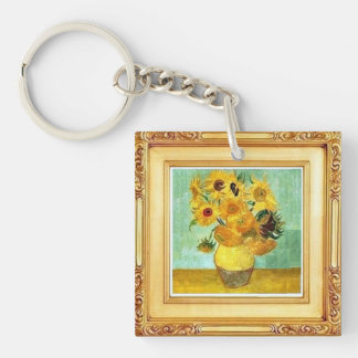 Vincent Van Gogh - Sunflowers Key Chain