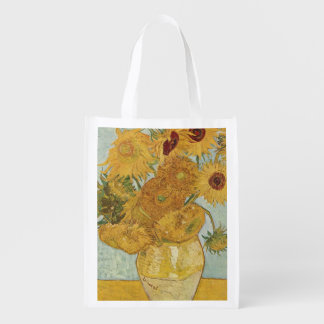 Vincent Van Gogh - Sunflowers Reusable Grocery Bag