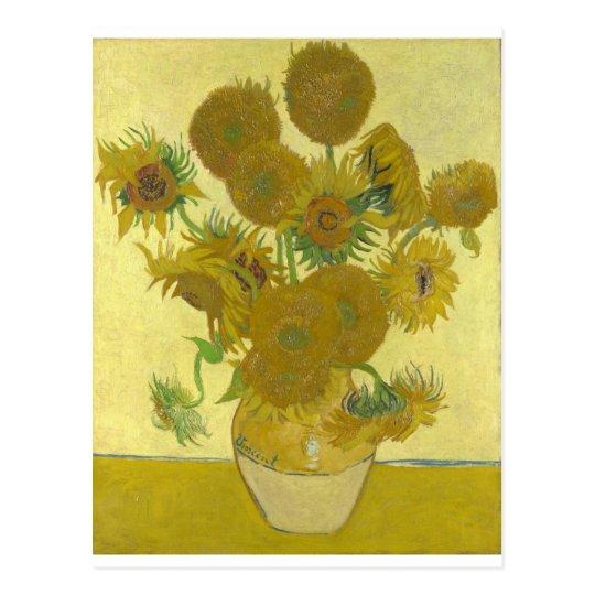 Vincent van Gogh sunflowers vase flowers art Postcard